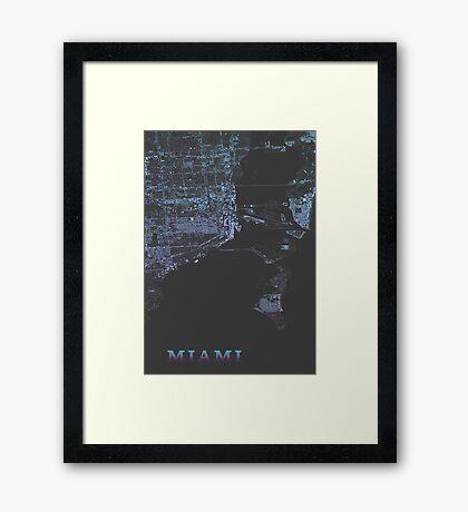 Miami, Retro special edition Framed Print