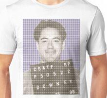 Robert Downey Jr Mug Shot - Violet Unisex T-Shirt