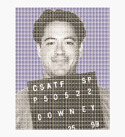 Robert Downey Jr Mug Shot - Violet Photographic Print