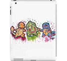 Pokemon Kanto Starters Spraypaint tshirts + more iPad Case/Skin