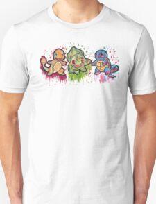 Pokemon Kanto Starters Spraypaint tshirts + more Jonny2may T-Shirt