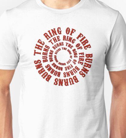 johnny cash man in black country rock singer music lyrics cool ring of fire hippie t shirts Unisex T-Shirt