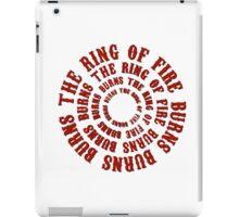 johnny cash man in black country rock singer music lyrics cool ring of fire hippie t shirts iPad Case/Skin