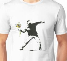 Banksy- Flower Thrower Unisex T-Shirt