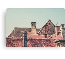Rooftops at Sunset Canvas Print