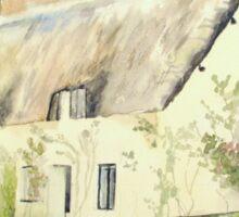 Picturesque Dunster Cottage Sticker