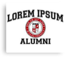 Lorem Ipsum University College Alumni Dummy Latin Canvas Print