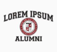 Lorem Ipsum University College Alumni Dummy Latin by TheShirtYurt