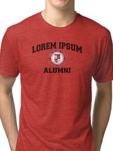 Lorem Ipsum University College Alumni Dummy Latin Tri-blend T-Shirt
