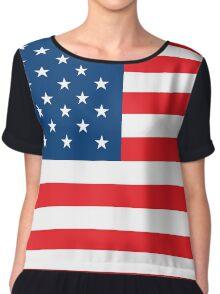 Flag USA Chiffon Top
