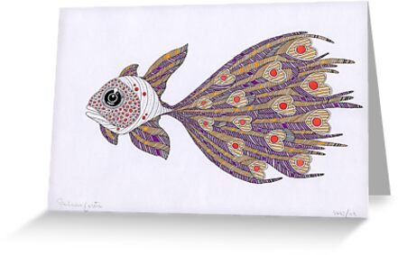 Fish of hearts  (original sold) by federico cortese