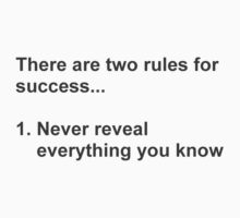 Two Rules For Success Revealed by TheShirtYurt