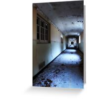 Corridor in decay Greeting Card