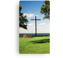 The Old Wooden Cross Canvas Print