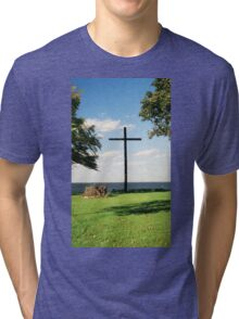 The Old Wooden Cross Tri-blend T-Shirt