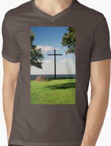 The Old Wooden Cross Mens V-Neck T-Shirt