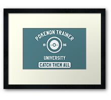 Pokemon university white Framed Print