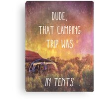 In Tents Canvas Print