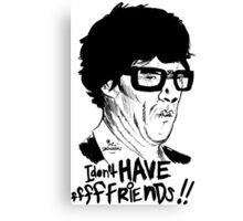 Hipster Sherlock Etch Canvas Print
