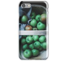 Apples in a basket iPhone Case/Skin