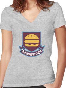 Steamed Ham United FC Women's Fitted V-Neck T-Shirt