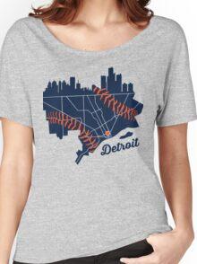 Detroit Baseball Map Women's Relaxed Fit T-Shirt