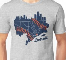 Detroit Baseball Map Unisex T-Shirt