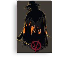 V for Vendetta 1st Version. Canvas Print