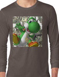 Gangster Yoshi Long Sleeve T-Shirt