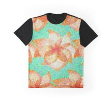 Mosaic pattern with flowers Graphic T-Shirt