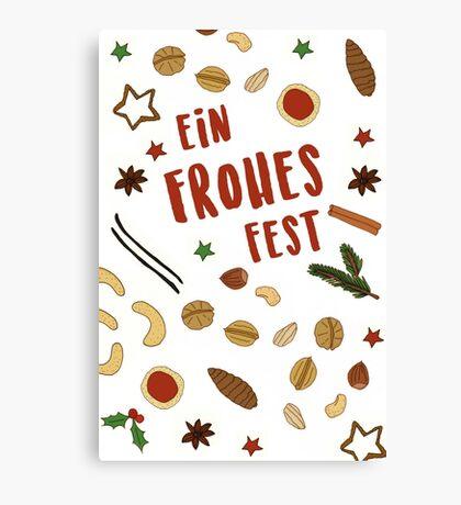 Frohes Fest - Keks-Karte Canvas Print