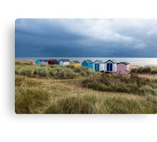 Line of Beach Huts at Southwold Canvas Print