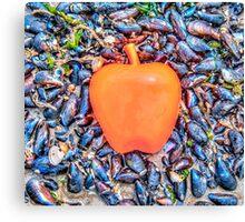 Apple on the Beach - part 3 Canvas Print