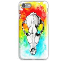 Watercolor skull iPhone Case/Skin