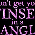 Dont get your tinsel in a tangle - pink glitter effect  by Sandra O'Connor