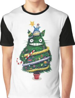 Christmas tree Totoro Graphic T-Shirt