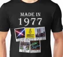 Made in 1977, main historical events Unisex T-Shirt