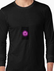 Purple flower wallpaper black iPhone Case Long Sleeve T-Shirt