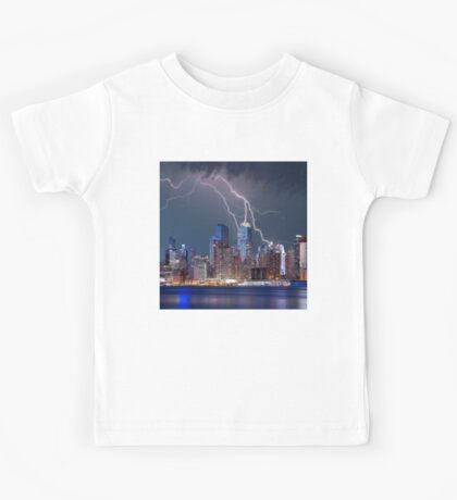 Manhattan Struck by Lightning Kids Tee