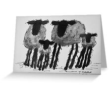 Inky Sheep 1 Greeting Card
