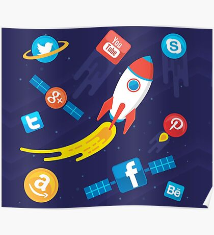 Awesome Social Media Universe Poster