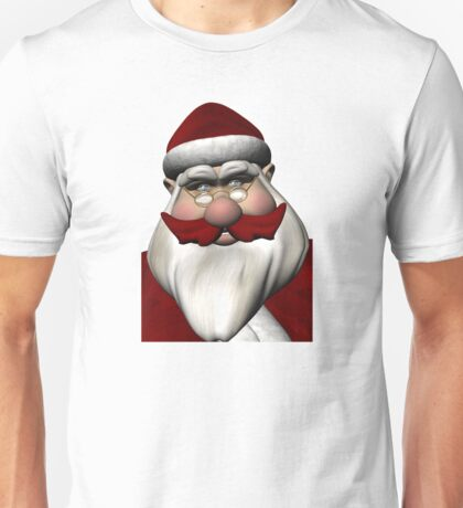Santa Claus With Red Mustache Unisex T-Shirt
