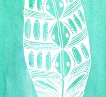 Hoyhen Green Watercolour Sticker