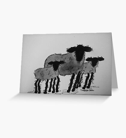 Inky Sheep 5 Greeting Card