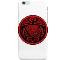 Mimbres Bird in Red iPhone Case/Skin