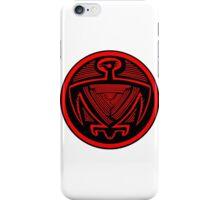 Mimbres Bird in Red iPhone Case/Skin