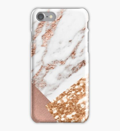 Layered rose gold iPhone Case/Skin