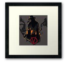 V for Vendetta 2nd Version. Framed Print
