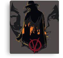 V for Vendetta 2nd Version. Canvas Print