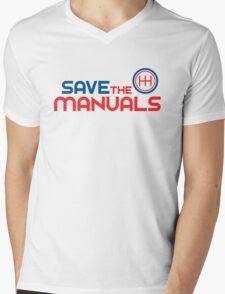 Save The Manuals (1) Mens V-Neck T-Shirt
